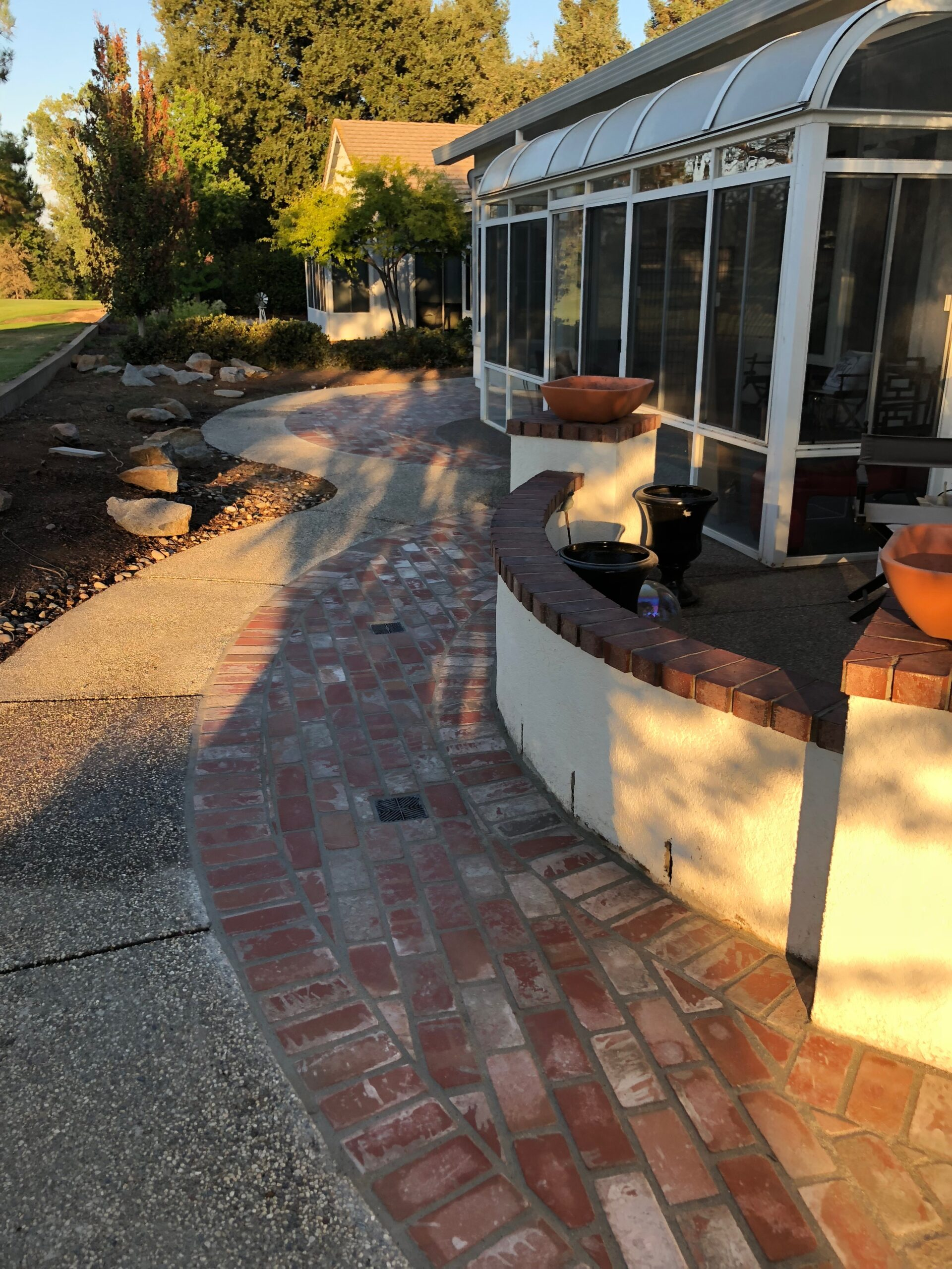 An image of finished concrete work in Laguna Niguel.