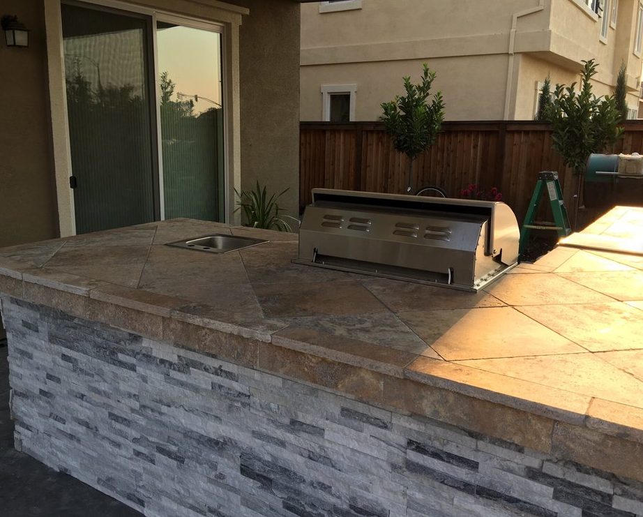 this picture shows concrete countertop laguna niguel
