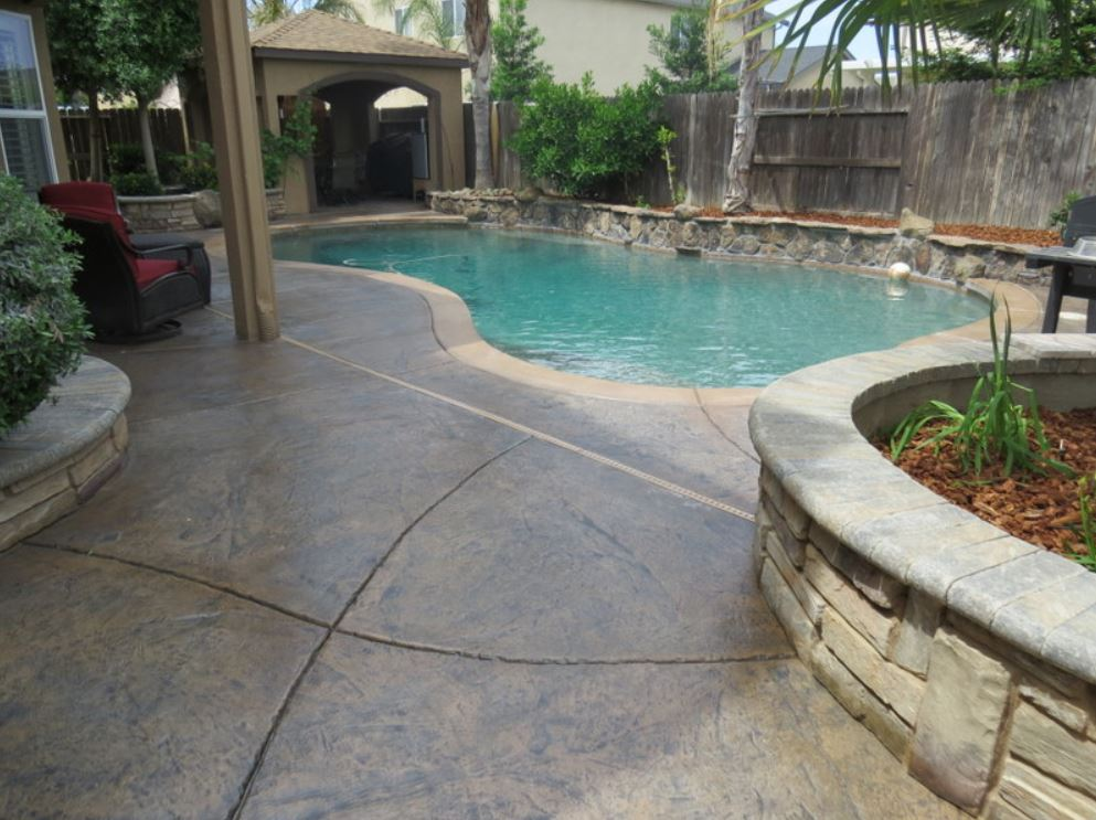 this image shows pool deck concrete resurfacing